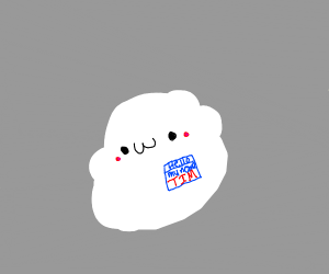 Cute White Blob named Tim