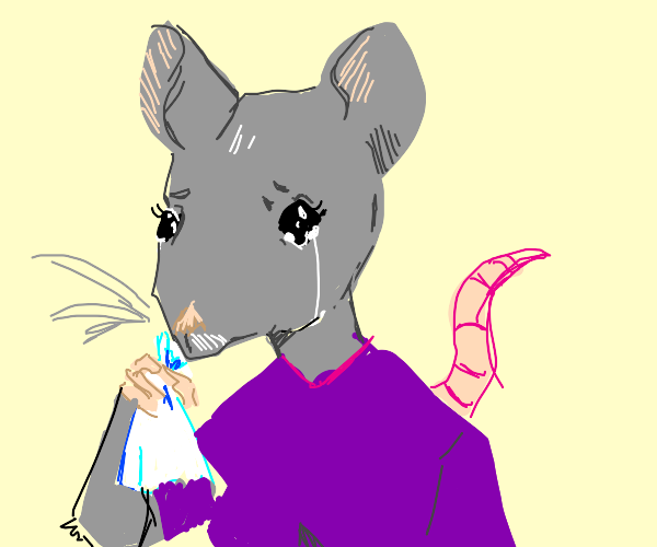 Mouse lady cries