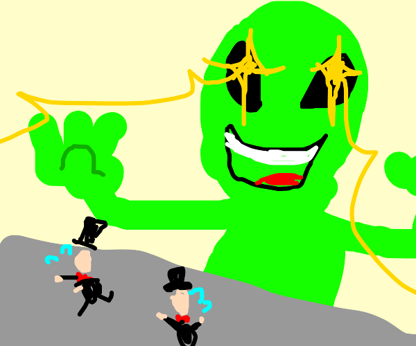Alien wipes out bourgeois scum