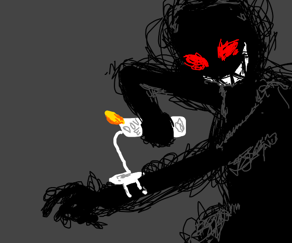 shadow man applying moisturizer