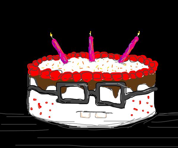 very nerdy cake