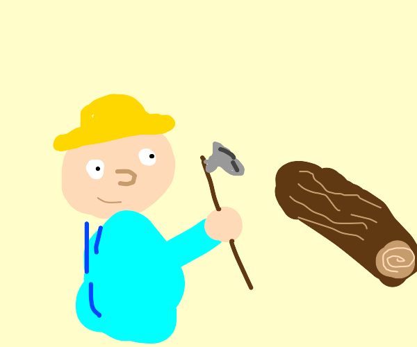 bob the builder saws some wood