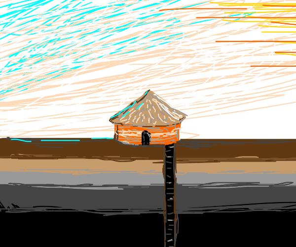 escape hatch in a hut