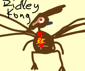 Ridley and Donkey Kong fuse together
