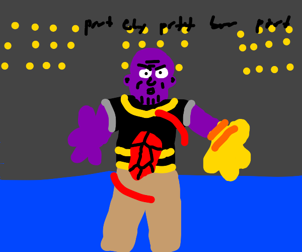 Thanos rapping from Cartoon BeatBox Battles