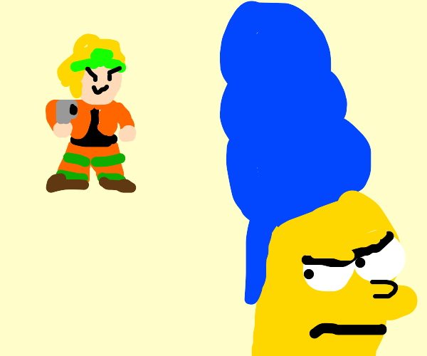 Dio about to murder Marge Simpson