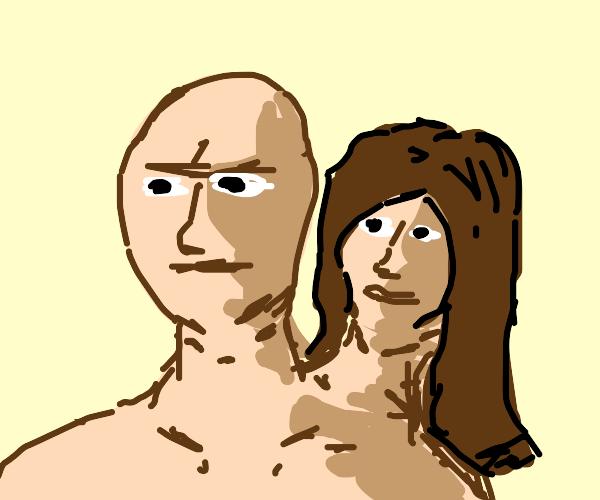 2 headed person