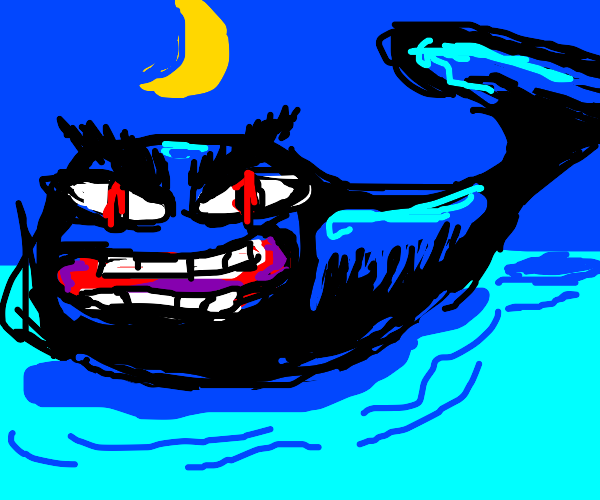 Menacing whale