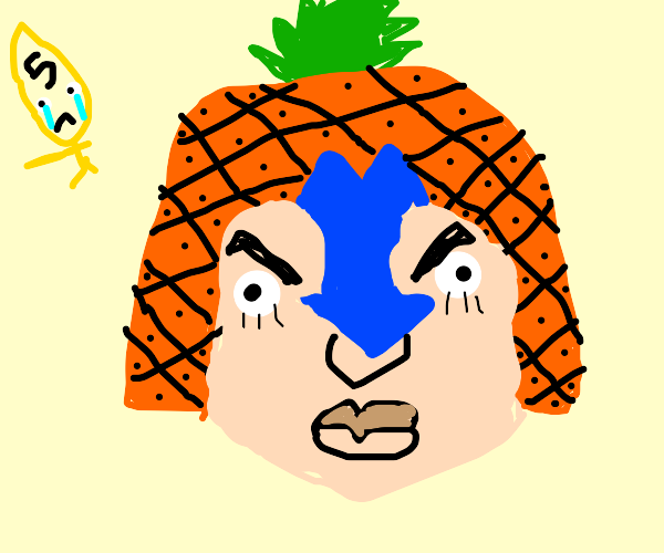 Mista wearing a pineapple
