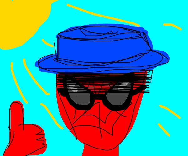 Spiderman enjoying sunny day