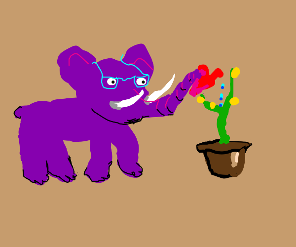 Purple elephant planter?