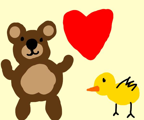 Teddy Loves Duck