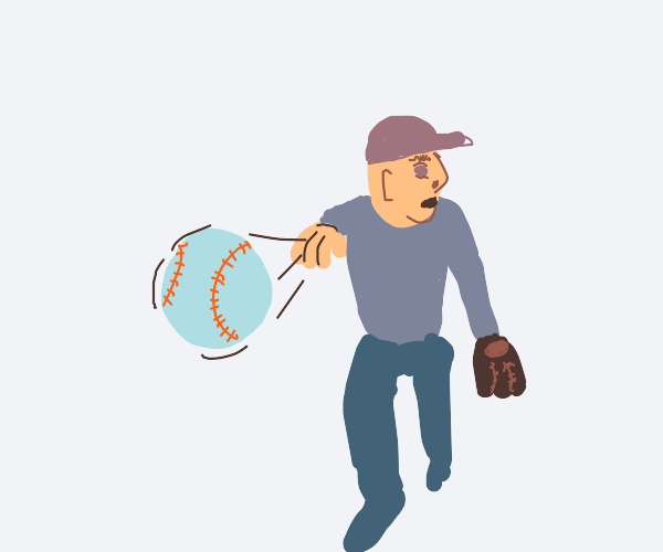 Baseball guy facing the wrong way