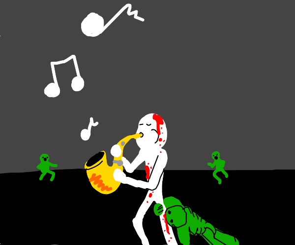 Music man gets brutally killed by zombie