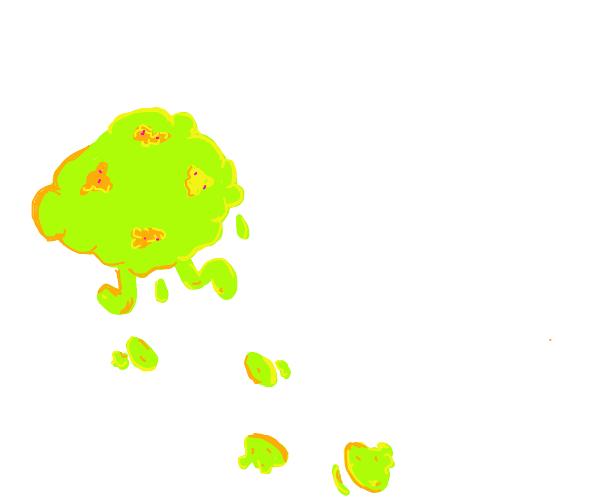 A mess runs away