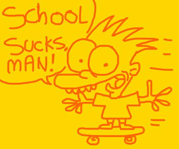 Bart Simpson hates school
