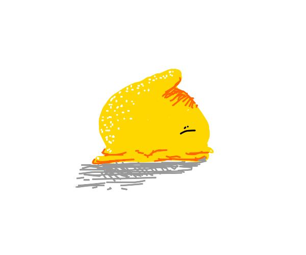 Sad flesh lemon