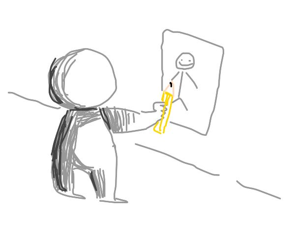 Man draws a Stickman