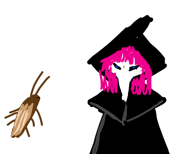 milo the roach and pink haired plague doctor