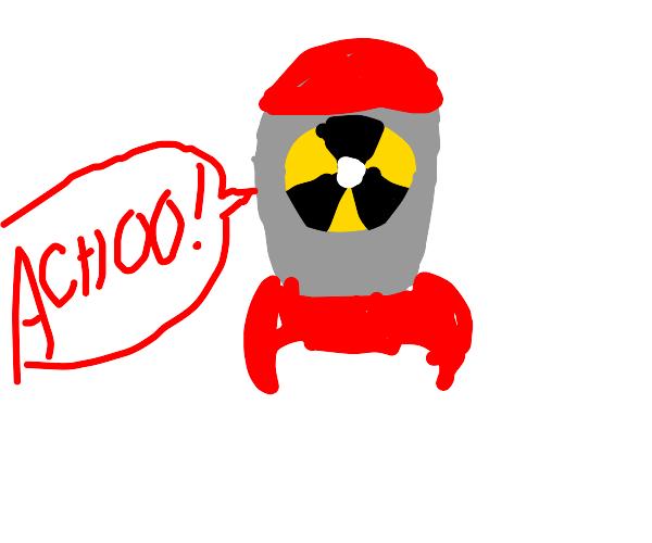 a sneezing bomb