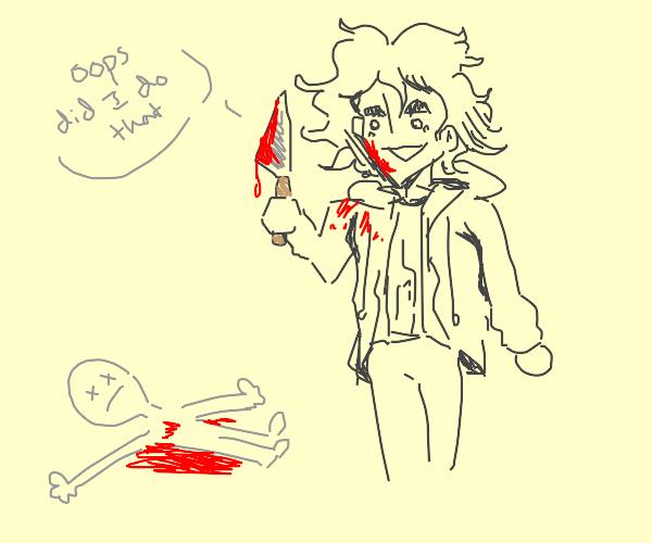 oh noes, nagito stabbed someone