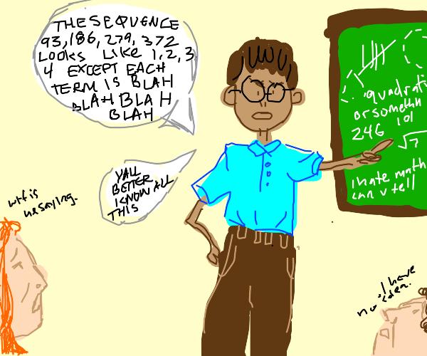 a math teacher