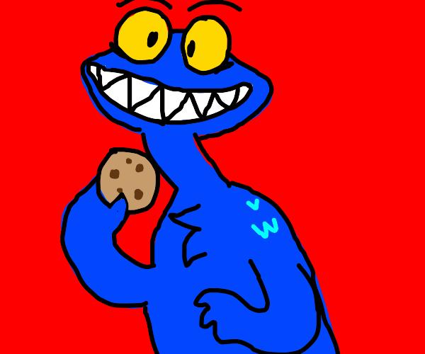 If Cookie Monster were in Hazbin Hotel