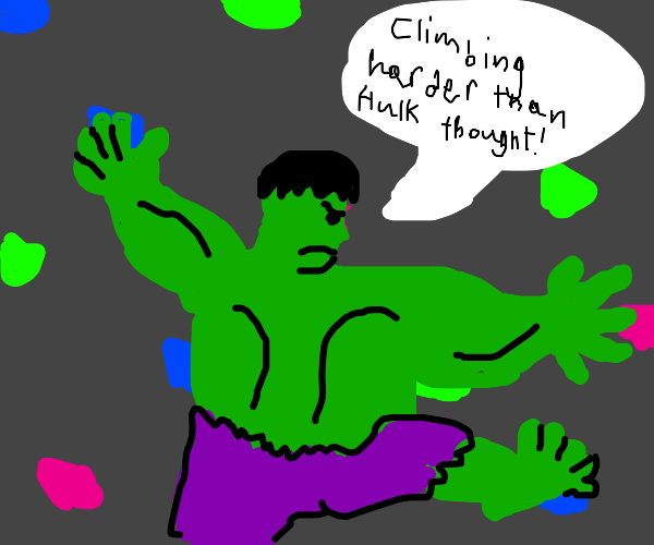hulk rock climbing