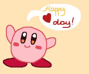 Kirby wishes Happy valentines Day