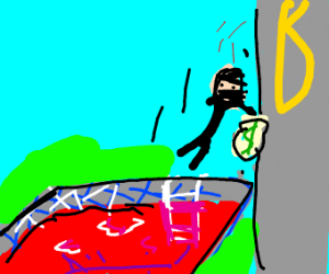 john steals money but lands in pool of blood