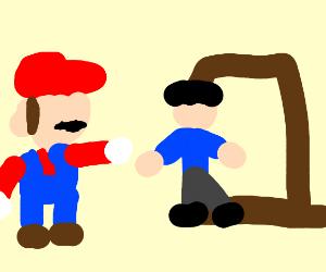 Mario hangs man