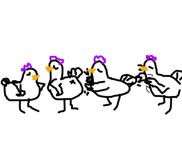 Time perform chicken dance