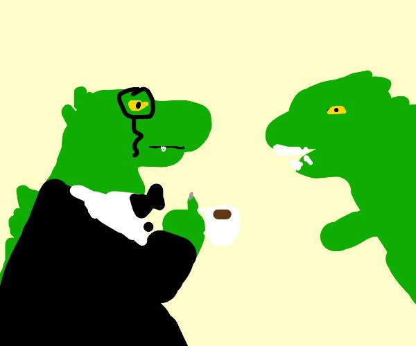 Godzilla's posh cousin comes to visit