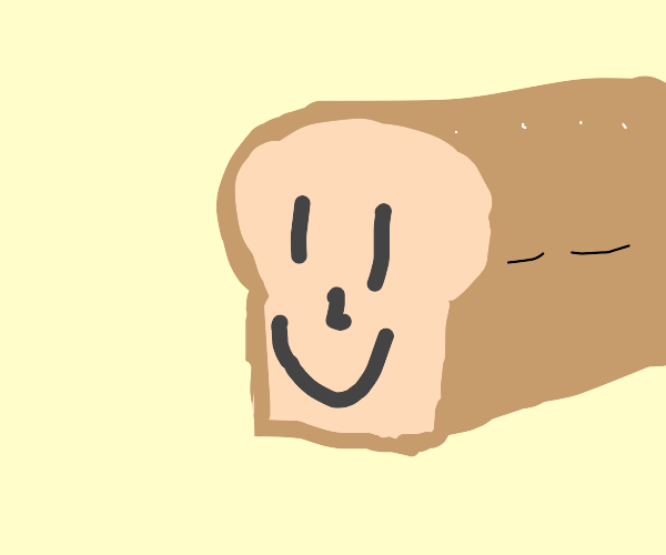 Loaf of Bread with a happy face