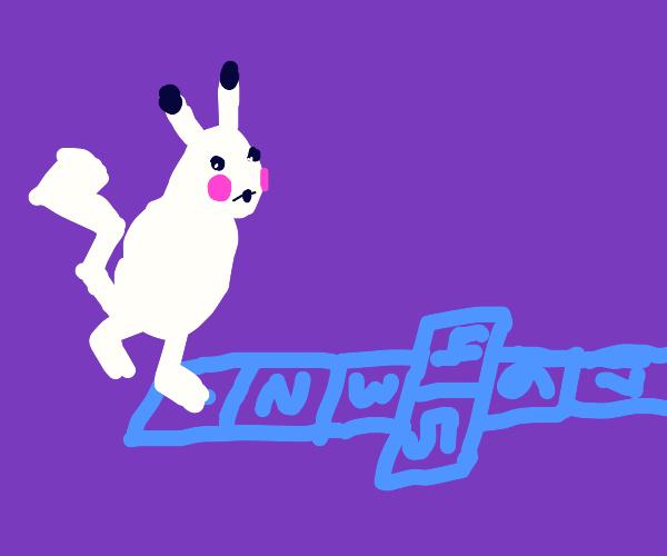 Pikachu playing Hopscotch