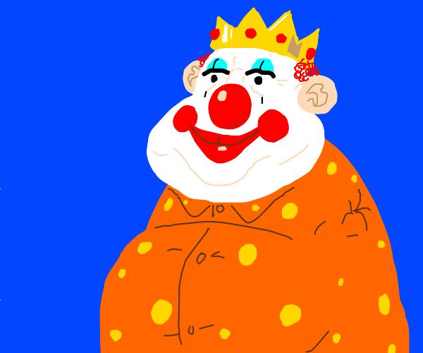 Armless clown in a crown