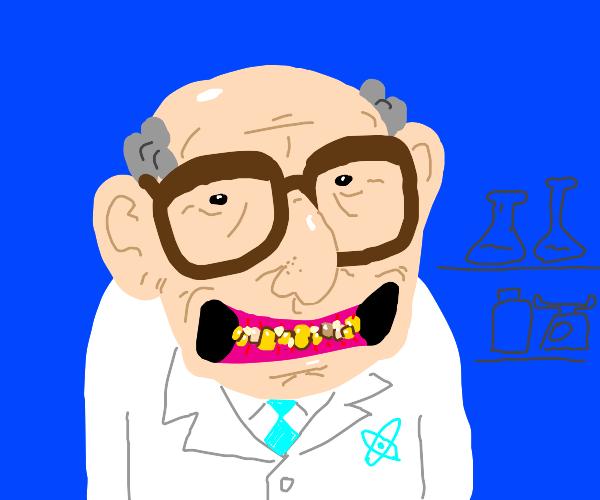 scientist with bad teeth