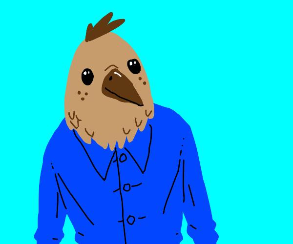 Bird-headed person