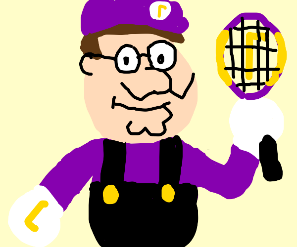 Peter griffin is now waluigi playing tennis