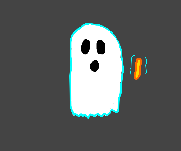 Ghost finds a french fry