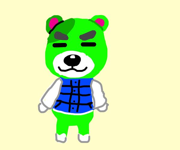 Bear from animal crossing