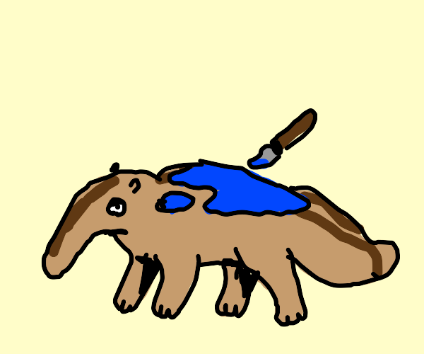 Painting a Blue Anteater