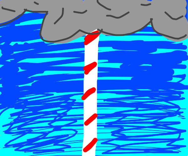 The candy cane that reaches up to the skies