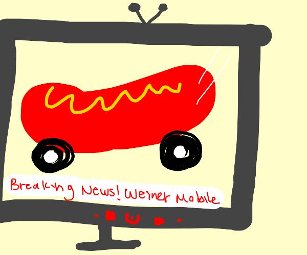 Weinermobile on tv
