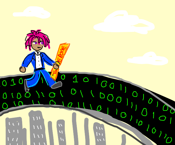 Neo walks on a binary bridge