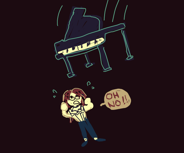 Diavolo crushed by piano
