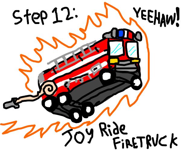 Step 11: get a fire truck