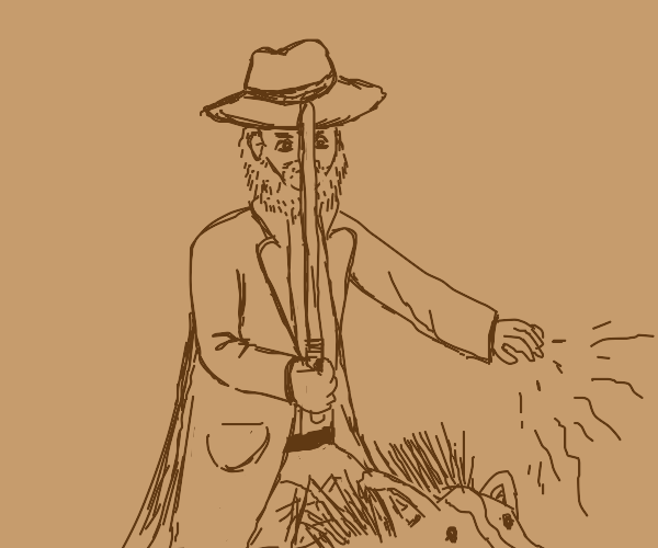cowboy with a lightsaber