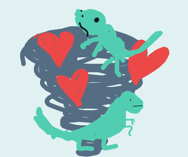 Tornado of love and dinosaurs