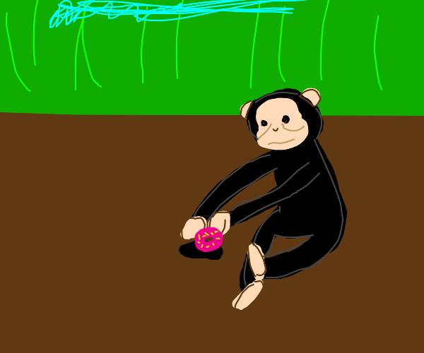 Ape planting a Doughnut